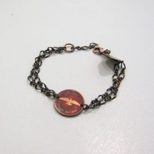 1967 Copper Penny Chain Bracelet