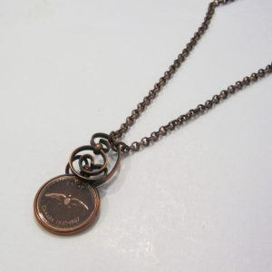 1967 Copper Penny Twist Necklace 2