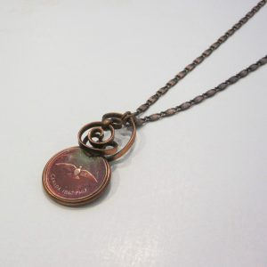1967 Copper Penny Twist Necklace