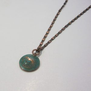 1967 Green Penny Dome Necklace