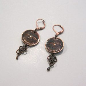 1967 Copper Penny Earrings 3