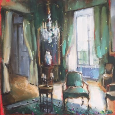 Parisian Apartment with Bergere Chair 18 x 18
