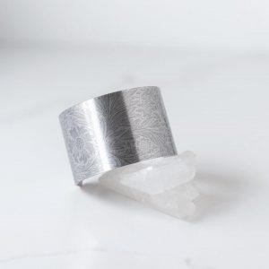 Etched Fostoria Aluminum Cuff