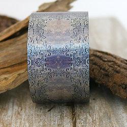 Antique Silver Aluminum Cuff