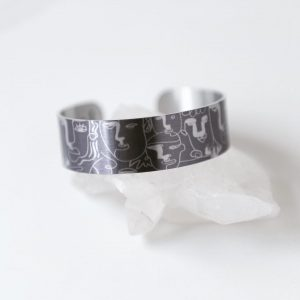 Turn the Other Cheek Small Aluminum Cuff