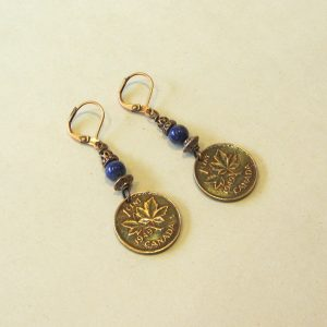 1949 Copper & Lapis Lazuli Earrings