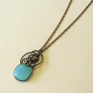 Chalcedony Copper Necklace