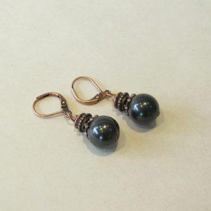 Shungite Copper Earrings