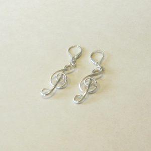 Silver Filled Treble Clef Earrings
