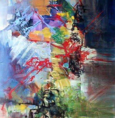 20213728 Mozart Mass in C-minor credo acrylic on canvas 72x36in