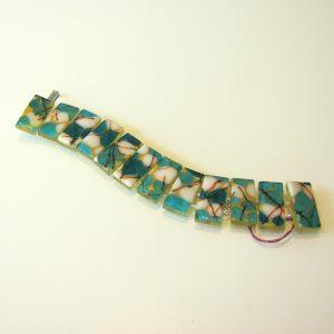 Aqua Pebble Glass Bracelet